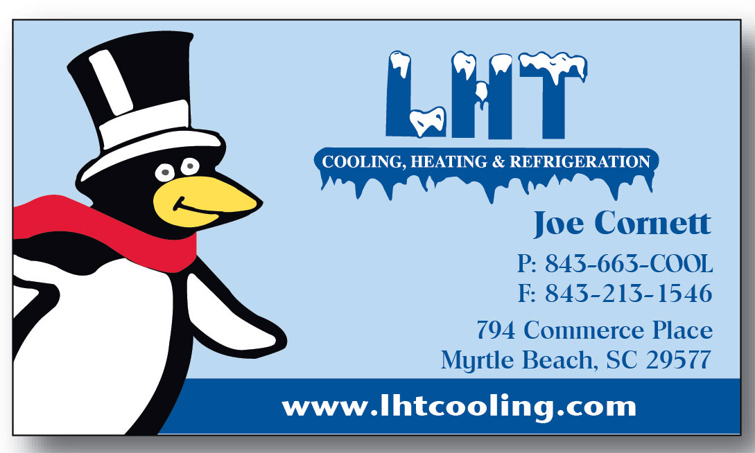 Portfolio mroz marketing lht cooling business cards reheart
